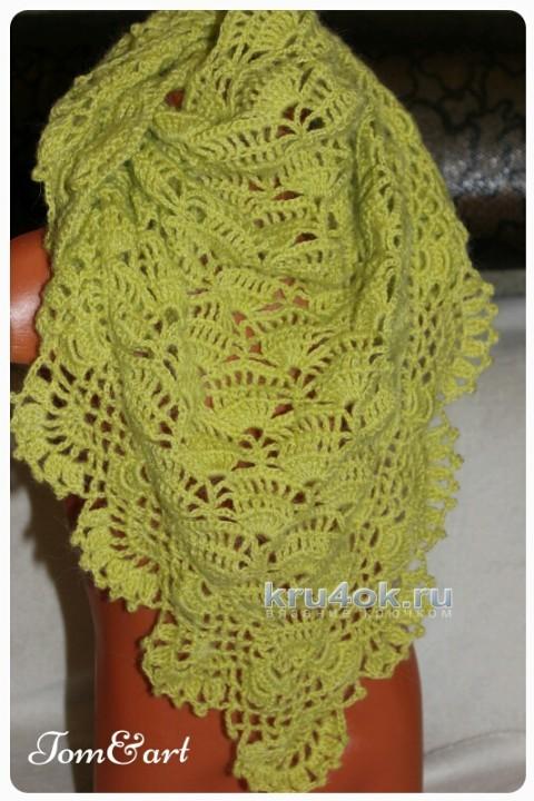 Шаль бактус крючком. Работа Тамары вязание и схемы вязания