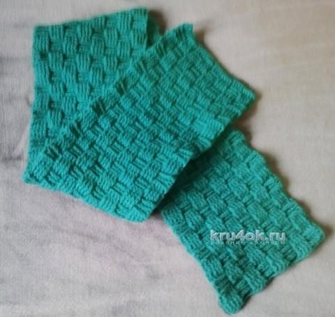 Мужской шарф крючком - работа Андрея