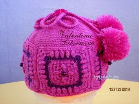 Снуд и шапочка для девочки. Работы Валентины Литвиновой вязание и схемы вязания