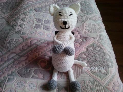 Вязаная игрушка Кот Аминеко. Работа Анны вязание и схемы вязания