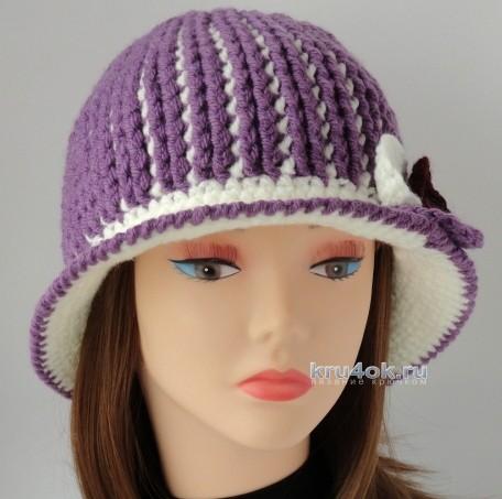 Вязаная крючком шляпа. Работа Сауле Вагаповой вязание и схемы вязания