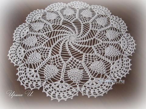 Вязаная салфетка. Работа Ирины Игошиной вязание и схемы вязания
