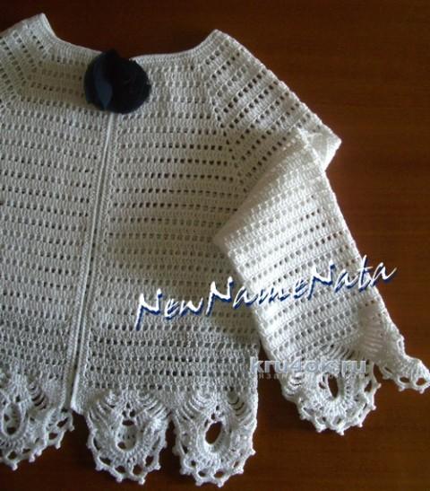 Жакет для девочки. Работа NewNameNata вязание и схемы вязания