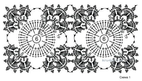 Жакет из ажурных мотивов. Работа Евгении Руденко вязание и схемы вязания