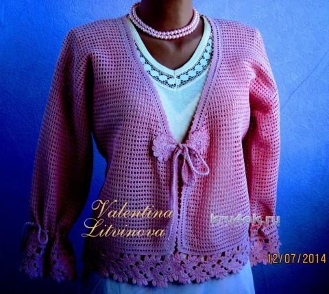 Жакетики для мамы и дочки. Работы Валентины Литвиновой вязание и схемы вязания