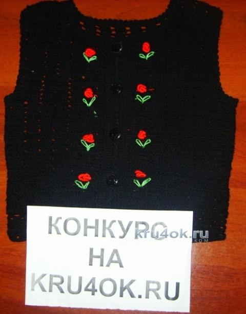 Жилет и юбка крючком. Работы Наргисы вязание и схемы вязания