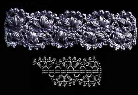 Схема вязания кружева: