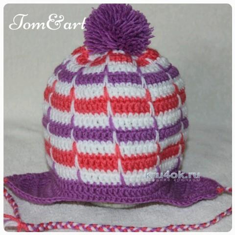 Детские шапочки крючком. Работы Тамары вязание и схемы вязания
