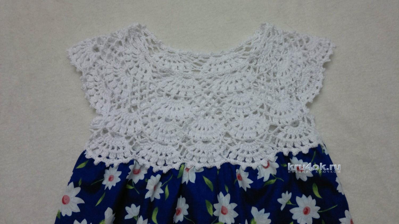 детское платье комбинированное работа татьяны бажановой