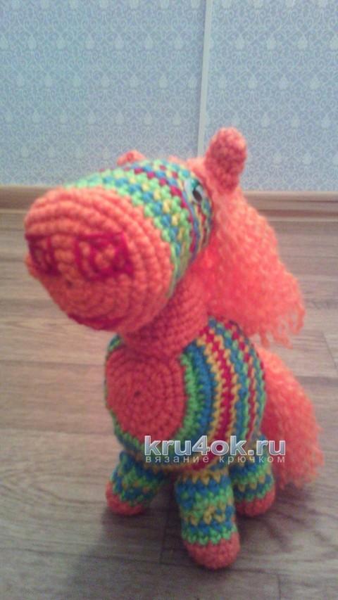 Игрушка лошадь крючком. Работа Анны вязание и схемы вязания