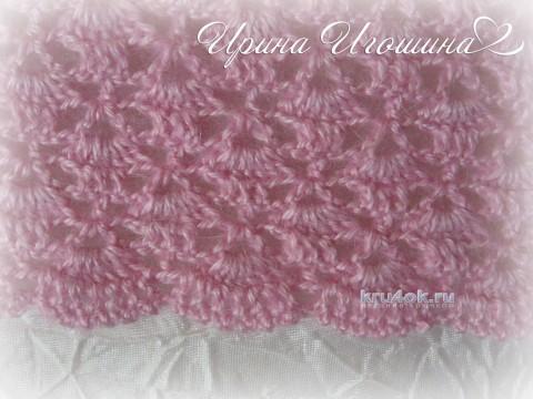 Мини - шаль Розовая дымка. Работа Ирины Игошиной вязание и схемы вязания