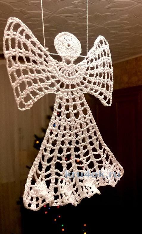 Новогодние снежинки и ангел, связанные крючком