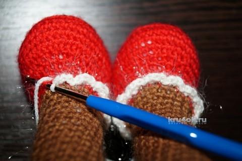 Новогодняя обезьянка. Мастер - класс от Юлии Конончук вязание и схемы вязания