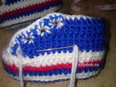 Пинетки - кеды крючком. Мастер-класс! вязание и схемы вязания