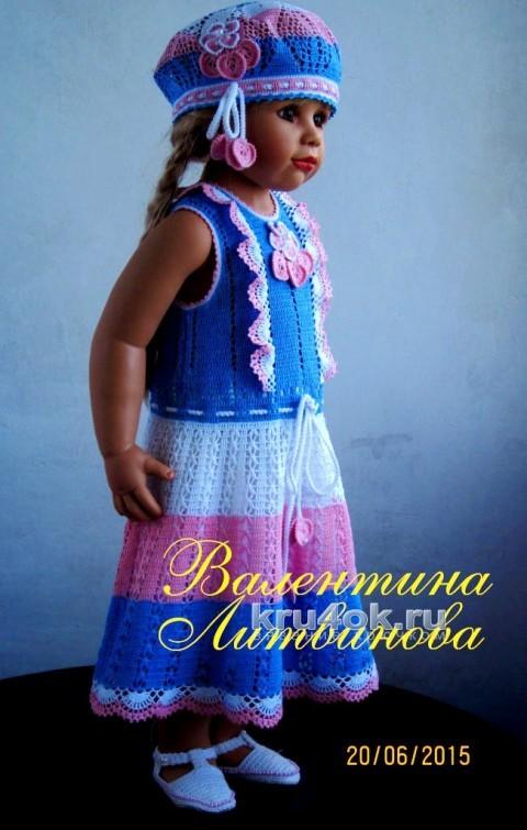Платье Машенька и берет. Работы Валентины Литвиновой вязание и схемы вязания