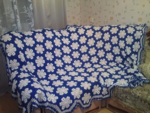 Плед крючком. Работа Анны Кузнецовой вязание и схемы вязания