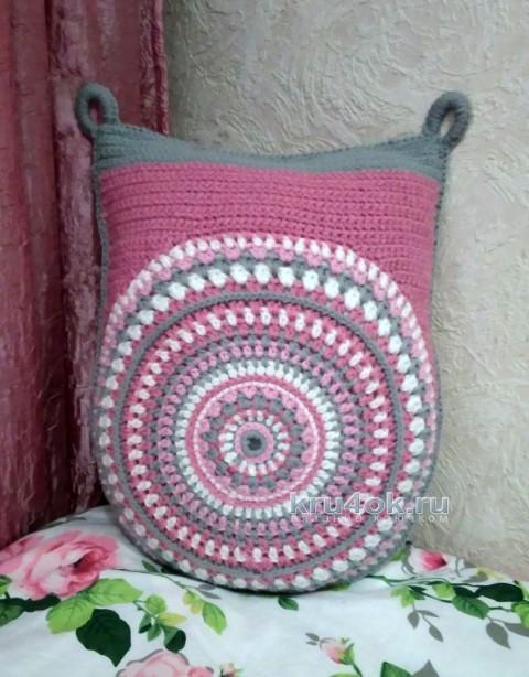 Подушка - сова. Работа Ксении вязание и схемы вязания