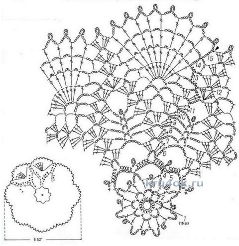 Салфетки крючком. Работы Анны Кузнецовой вязание и схемы вязания