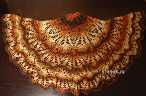 Шаль крючком. Работа Анны Кузнецовой вязание и схемы вязания