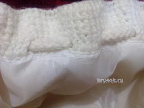 Сумочка Белая осень. Работа Аксиньи Григ вязание и схемы вязания