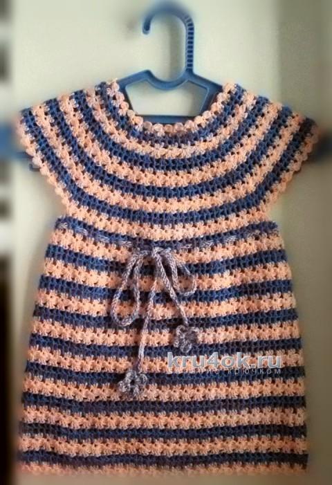 Туника для девочки. Работа Лилии вязание и схемы вязания