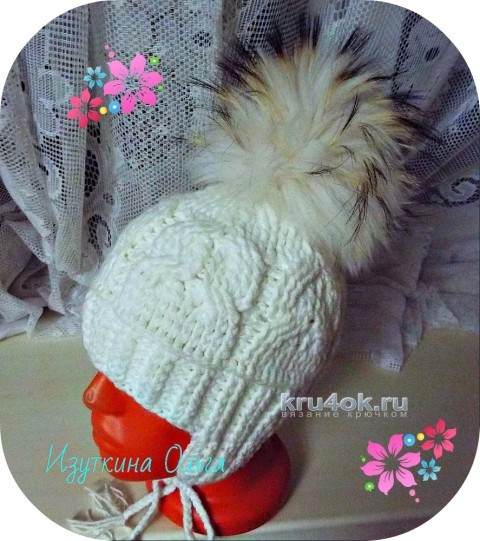 Вязаная детская шапочка. Работа Ольги Изуткиной вязание и схемы вязания