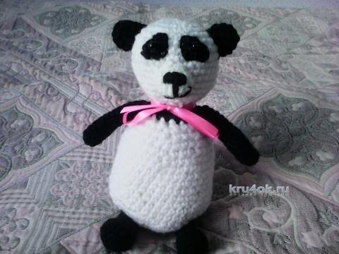 Вязаная игрушка панда. Работа Анны вязание и схемы вязания