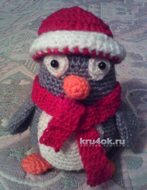 Вязаная игрушка пингвин. Работа Анны вязание и схемы вязания