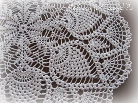 Вязаная крючком салфетка. Работа Ирины Игошиной вязание и схемы вязания