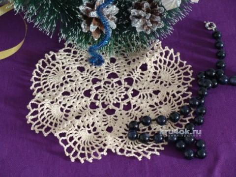 Вязаная салфетка. Работа Ольги вязание и схемы вязания