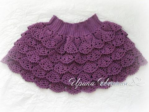 Вязаная юбочка для девочки. Работа Ирины Игошиной вязание и схемы вязания