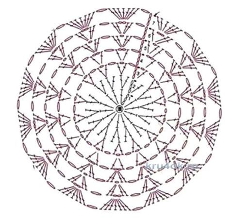 Вязаные подставки под горячее. Работы Тамары вязание и схемы вязания