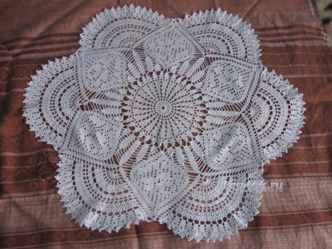 Вязаные салфетки. Работы Татьяны вязание и схемы вязания