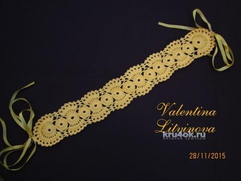 Вязаный подхват для штор. Работа Валентины Литвиновой вязание и схемы вязания