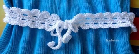Вязаный пояс для детского платья. Работа Сауле Вагаповой вязание и схемы вязания
