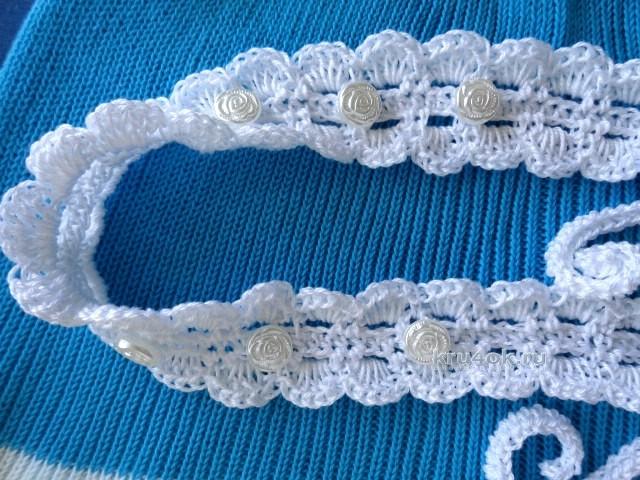 Схема крючком пояс для платья