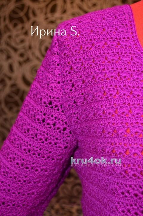 Яркая кофточка крючком. Работа Ирины Стильник вязание и схемы вязания
