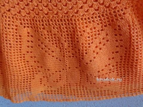 Юбка с бабочками. Работа Надежды Лавровой вязание и схемы вязания