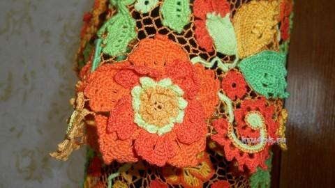 Жакет Яркие краски. Работа Светланы вязание и схемы вязания