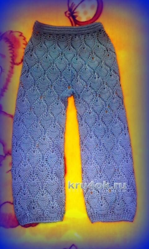 Ажурные брюки Шахарезады. Работа Марины Гололобовой вязание и схемы вязания