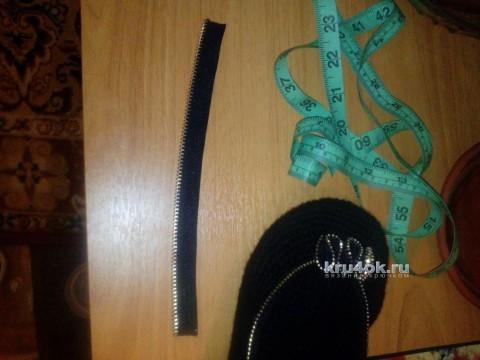 Балетки крючком. Работа Аксиньи Григ вязание и схемы вязания