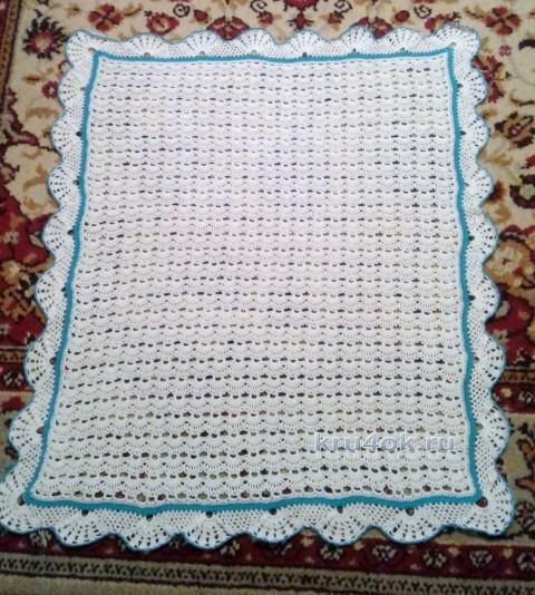 Детский ажурный плед. Работа Анны Бурмистровой вязание и схемы вязания
