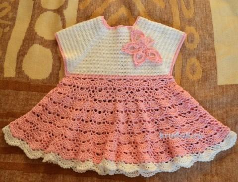 Детское платье. Работа Натальи Ждановой вязание и схемы вязания