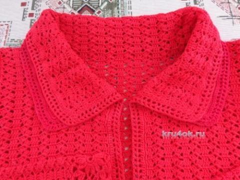 Летнее пальто крючком. Работа Надежды Лавровой вязание и схемы вязания