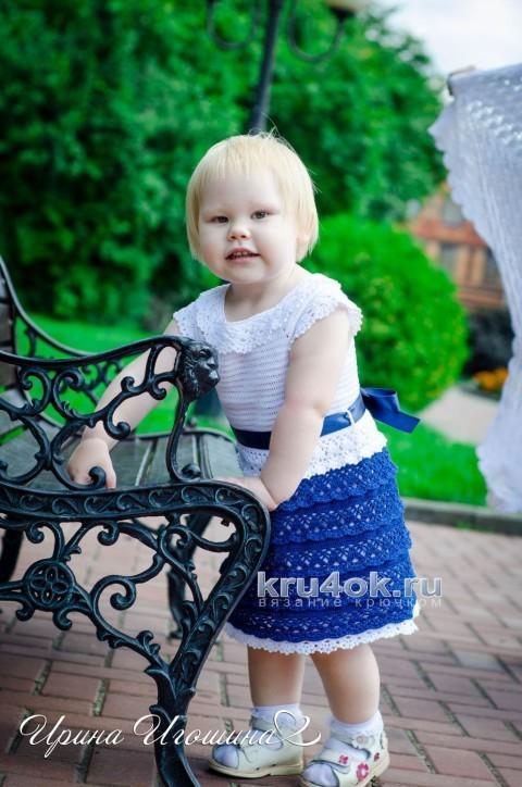 Платье Маленькая леди. Работа Ирины Игошиной вязание и схемы вязания