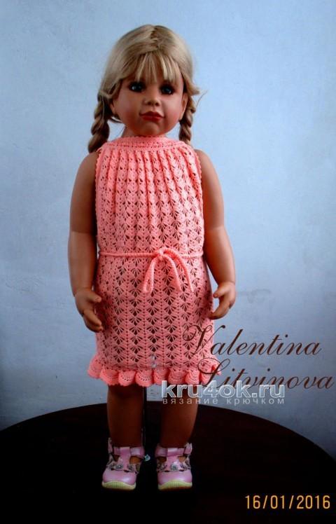 Платьице - трансформер для девочки. Работа Валентины Литвиновой вязание и схемы вязания