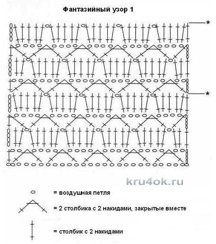Пляжный сарафан крючком. Работа Татьяны Бажановой вязание и схемы вязания