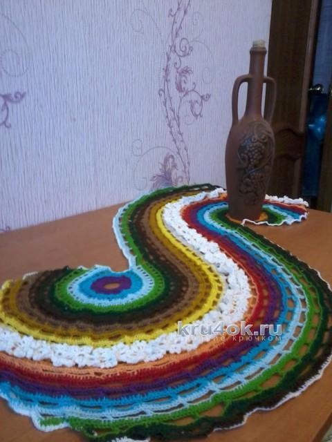 Салфетка крючком. Работа Ольги Царевой вязание и схемы вязания