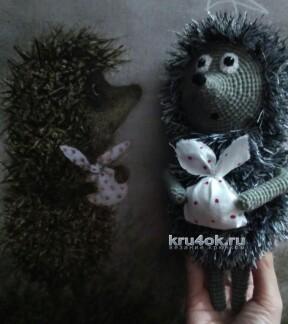 Вязаная игрушка Ежик в тумане. Работа Ксении вязание и схемы вязания