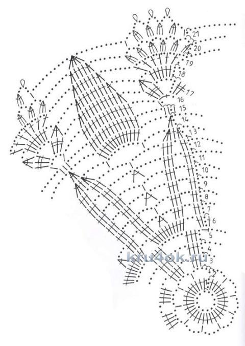 Вязаная салфетка. Работа Татьяны вязание и схемы вязания
